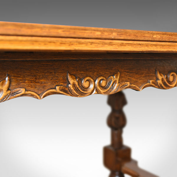 Antique Dining Table, Extending, Oak, Draw Leaf, Flemish, Seats up to 10, c.1930 - London Fine Antiques