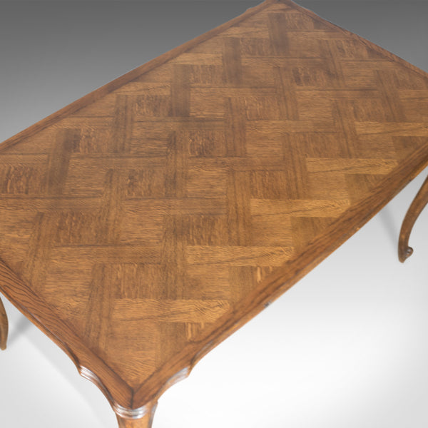 Antique Dining Table, Extending, Draw Leaf French Parquet, Seats Ten Early C20th - London Fine Antiques