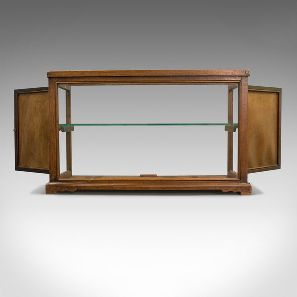 Antique Display Cabinet, Shop Fitting, English, Victorian, Oak Circa 1900 - London Fine Antiques