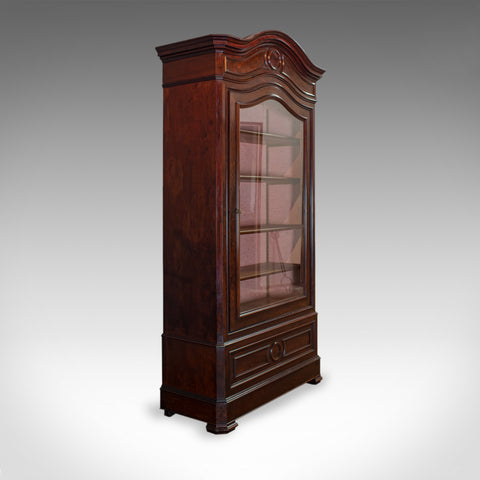 Antique Display Cabinet, Victorian, Flame Mahogany Vitrine, Circa 1850 - London Fine Antiques