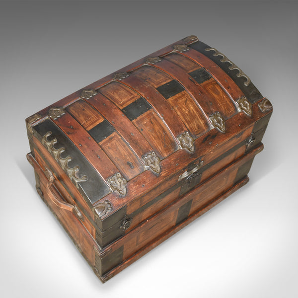 Antique Dome Topped Carriage Chest, English, Victorian, Trunk, 19th Century - London Fine Antiques
