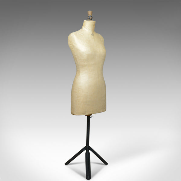 French Antique Dress Makers Dummy, Adjustable Height, Three-Quarter, c.1900 - London Fine Antiques