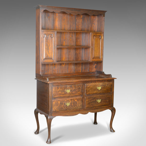 Antique Dresser, English, Oak, Victorian, Country Kitchen, Sideboard, Circa 1870 - London Fine Antiques