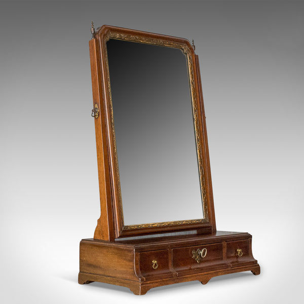 Antique Dressing Table Mirror, English Georgian, Mahogany, Toilet, Vanity c.1800 - London Fine Antiques