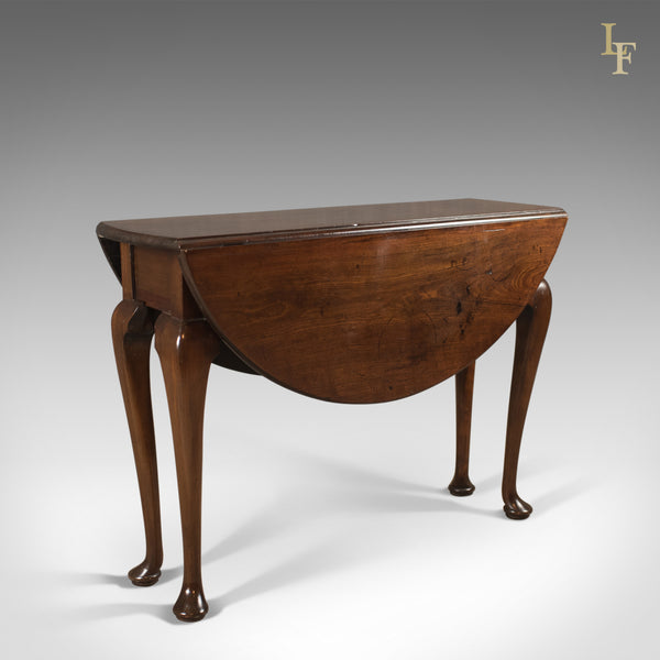 Antique Drop Flap Dining Table, Mahogany, English, Early Georgian c.1740 - London Fine Antiques