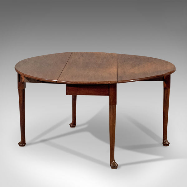 Antique Drop Flap Dining Table, Mahogany, English, Georgian, C18th Circa 1800 - London Fine Antiques