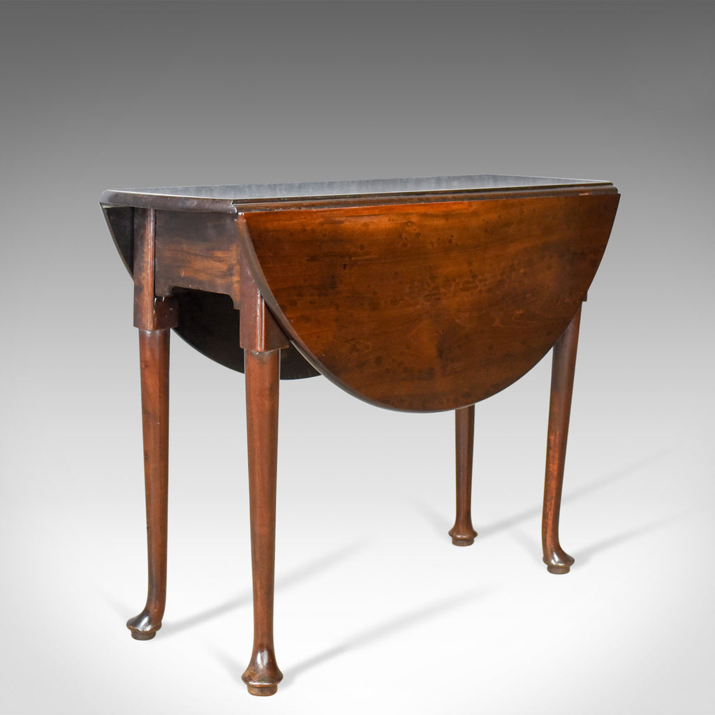Antique Drop Leaf Table, Mahogany, English, Georgian, Dining, Circa 1760 - London Fine Antiques
