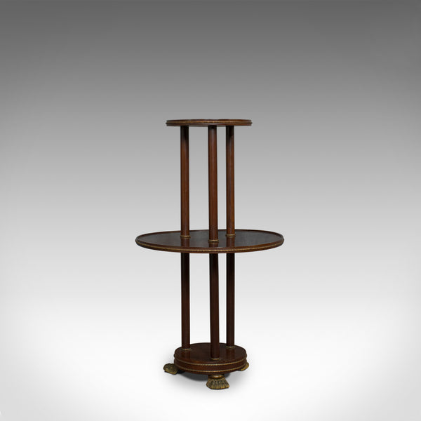 Antique Dumb Waiter, English, Victorian, Mahogany, Tiered, Empire, Circa 1880 - London Fine Antiques