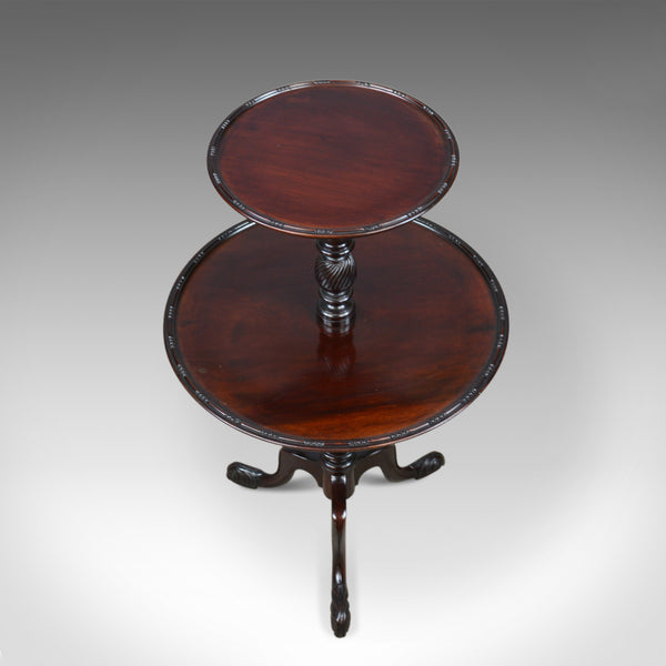 Antique Dumb Waiter, English, Victorian, Mahogany, Two Tier Table, C19th c.1890 - London Fine Antiques