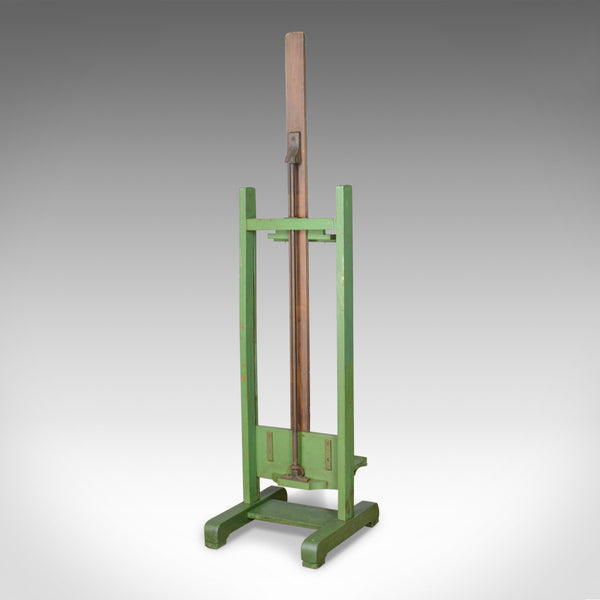 Antique Easel, Adjustable, Wooden, Green, Roberson & Co, London, Artist c.1880 - London Fine Antiques