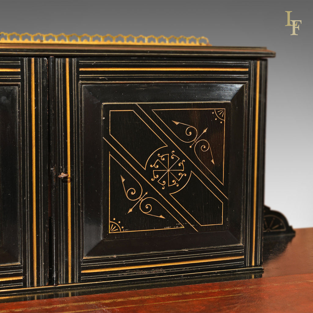 aesthetic movement antique bonheur du jour. Black Bedroom Furniture Sets. Home Design Ideas