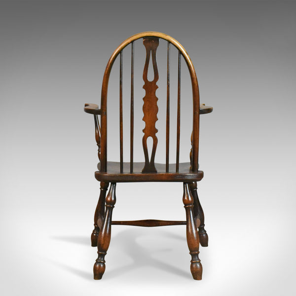 Antique Elbow Chair, English, Victorian, Bow Back Windsor, Beech Elm Circa 1890 - London Fine Antiques