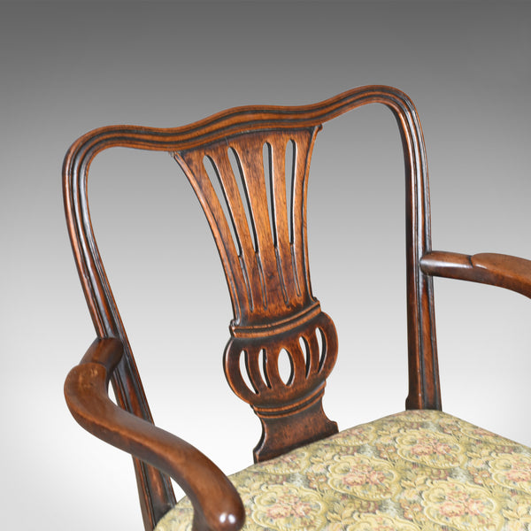 Antique Elbow Chair, English, Georgian, Mahogany, Open Armchair, Circa 1780 - London Fine Antiques