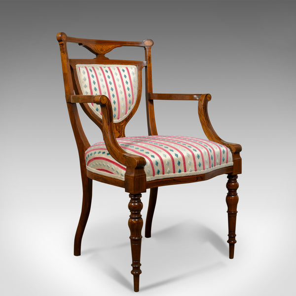 Antique  Elbow Chair, Rosewood, English Open Armchair, Maple & Co. Circa 1910 - London Fine Antiques