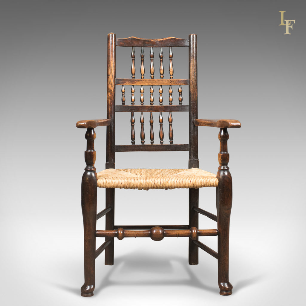 ... Antique Elbow Chair, Victorian Lancashire Spindle Back Dining, C.1870    London Fine ...