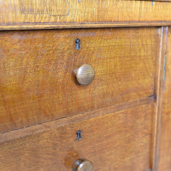 Large Antique Estate Manager's Cupboard, Oak, English, Victorian, Cabinet c.1880 - London Fine Antiques