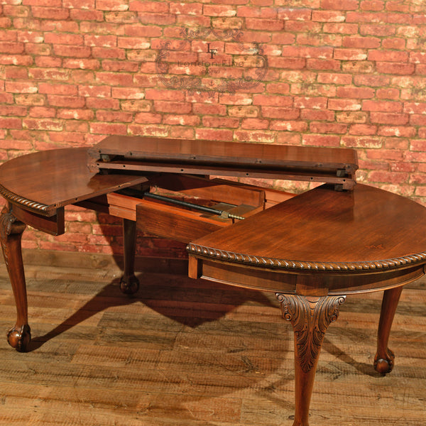 Victorian Extending Dining Table, c.1900 - London Fine Antiques - 9