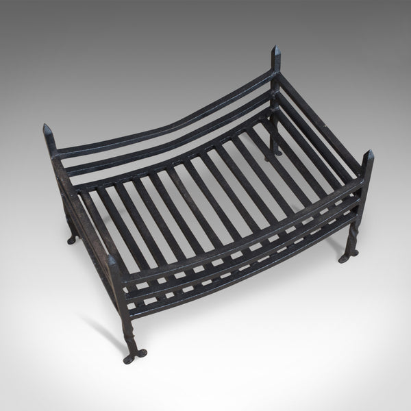 Antique Fire Basket, English, Victorian, Fireplace Grate, Early 20th Century - London Fine Antiques