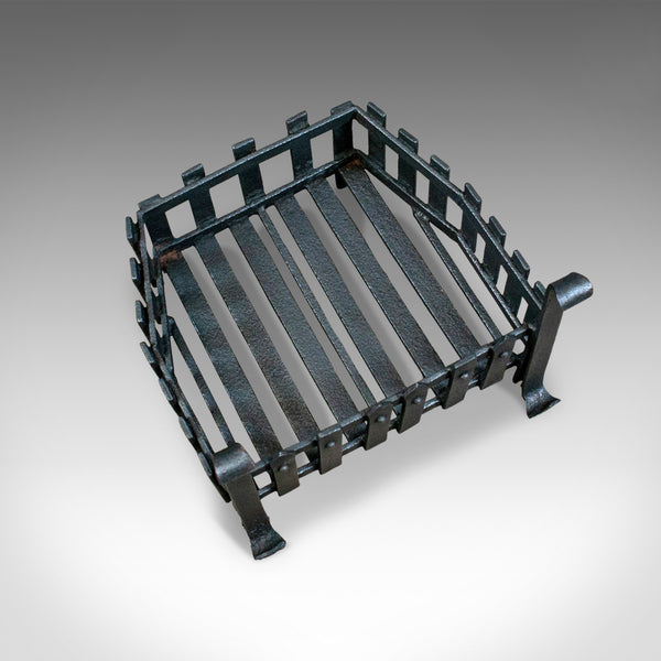 Antique Fire Basket, Free Standing, Victorian, Fireplace, Grate, Circa 1900 - London Fine Antiques