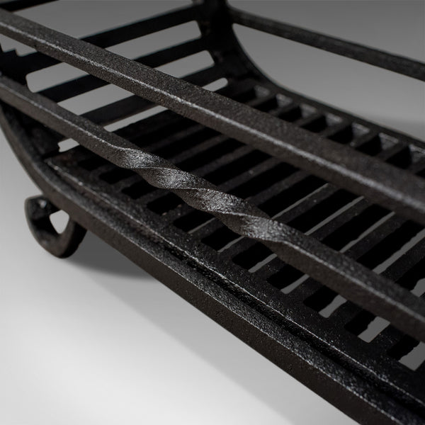 Antique Fire Basket, Victorian Free Standing Fireplace Grate, Iron Circa 1900 - London Fine Antiques