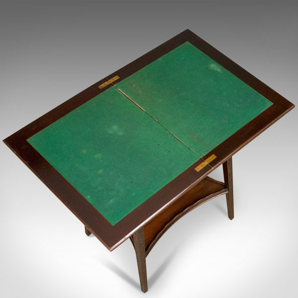 Antique Fold-Over Games Table, English, Edwards & Roberts, London Circa 1880 - London Fine Antiques