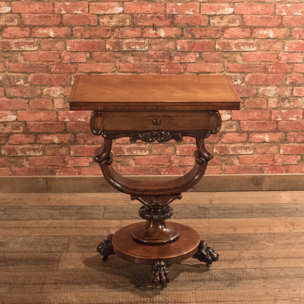Victorian Fold Over Games Table, c.1860 - London Fine Antiques - 2