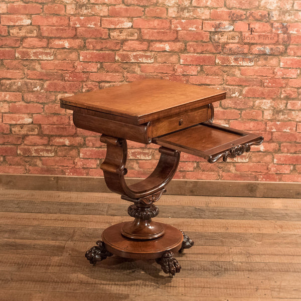 Victorian Fold Over Games Table, c.1860 - London Fine Antiques - 6