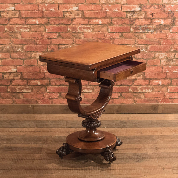 Victorian Fold Over Games Table, c.1860 - London Fine Antiques - 7