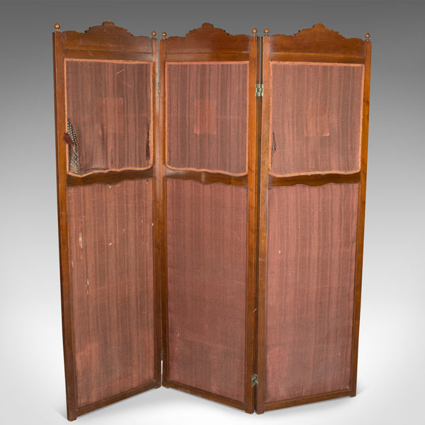 Antique Folding Screen, Edwardian Room Divider, Photographer's Prop Circa 1910 - London Fine Antiques