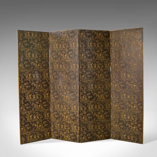 Antique Folding Screen, Room Divider, Wall Art, Photographer's Prop Circa 1910 - London Fine Antiques
