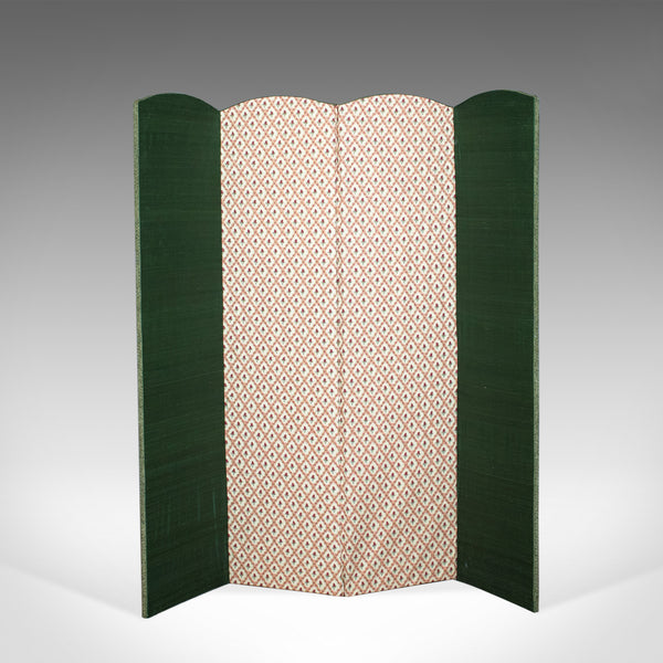 Antique Four Fold Screen, Edwardian, Panel, Room Divider, Photgrapher's Prop - London Fine Antiques