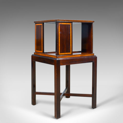 Antique Four Sided Bookcase Stand, Edwardian, Walnut, Book Table, Circa 1910 - London Fine Antiques