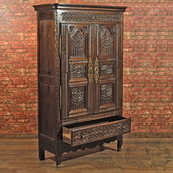 Antique French Oak Armoire, c.1800 - London Fine Antiques