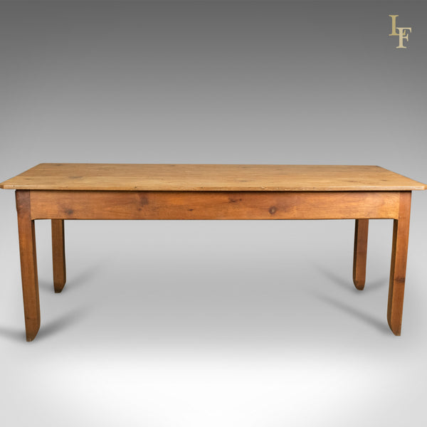 Antique French Farmhouse Table, C19th Pine, Kitchen Dining - London Fine Antiques