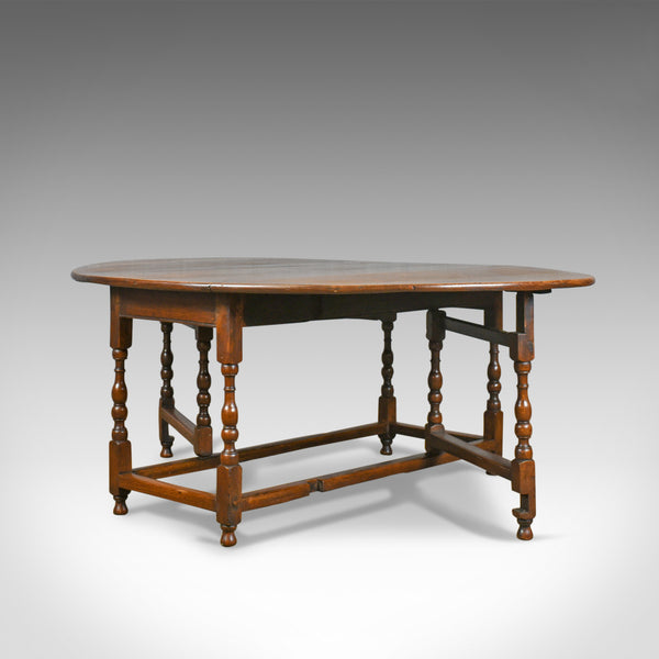Large Antique Gateleg Table, Georgian, Country Kitchen, Dining, Circa 1800