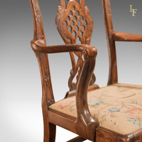 George III Elbow Chair, in the manner of Robert Manwaring - London Fine Antiques