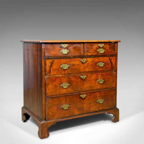 Antique Georgian Chest of Drawers, English, Walnut, 18th Century, Circa 1750 - London Fine Antiques
