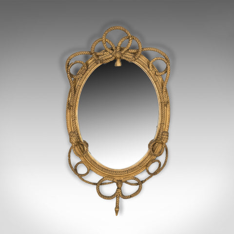 Antique Girandole Wall Mirror, Georgian Gilt Gesso Nautical Overtones Circa 1820