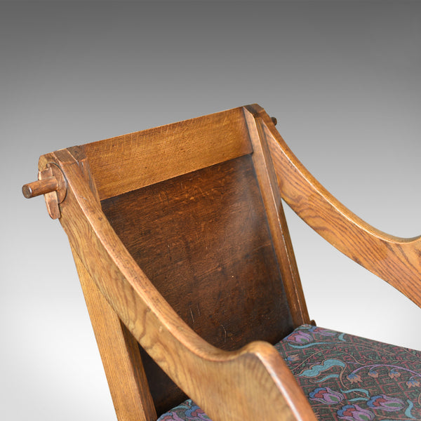 Antique Glastonbury Chair, English, Tudor Revival, Hall Seat, Circa 1900 - London Fine Antiques