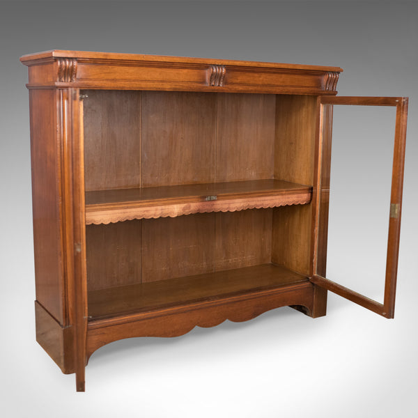 Antique Glazed Bookcase, Victorian, English, Display Cabinet, Walnut, Circa 1880 - London Fine Antiques