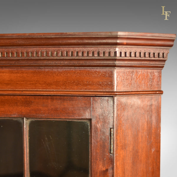 Edwardian Tall Glazed Antique Corner Cabinet, c.1910 - London Fine Antiques