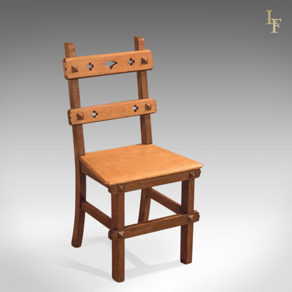 Arts & Crafts English Oak Chair, c.1900 - London Fine Antiques