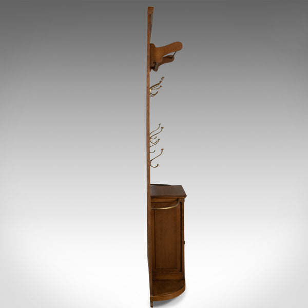 Antique Hall Stand, English, Edwardian, Oak, Coat, Umbrella, Stick, Rack c.1910 - London Fine Antiques