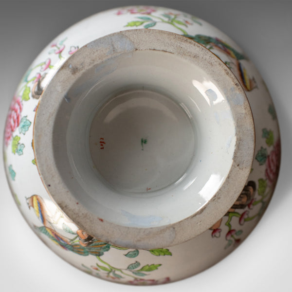Antique Ironstone Bowl, 19th Century, Victorian, Chinoiserie Ceramic - London Fine Antiques
