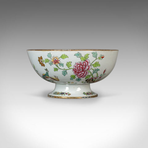 Antique Ironstone Bowl, 19th Century, Victorian, Chinoiserie Ceramic