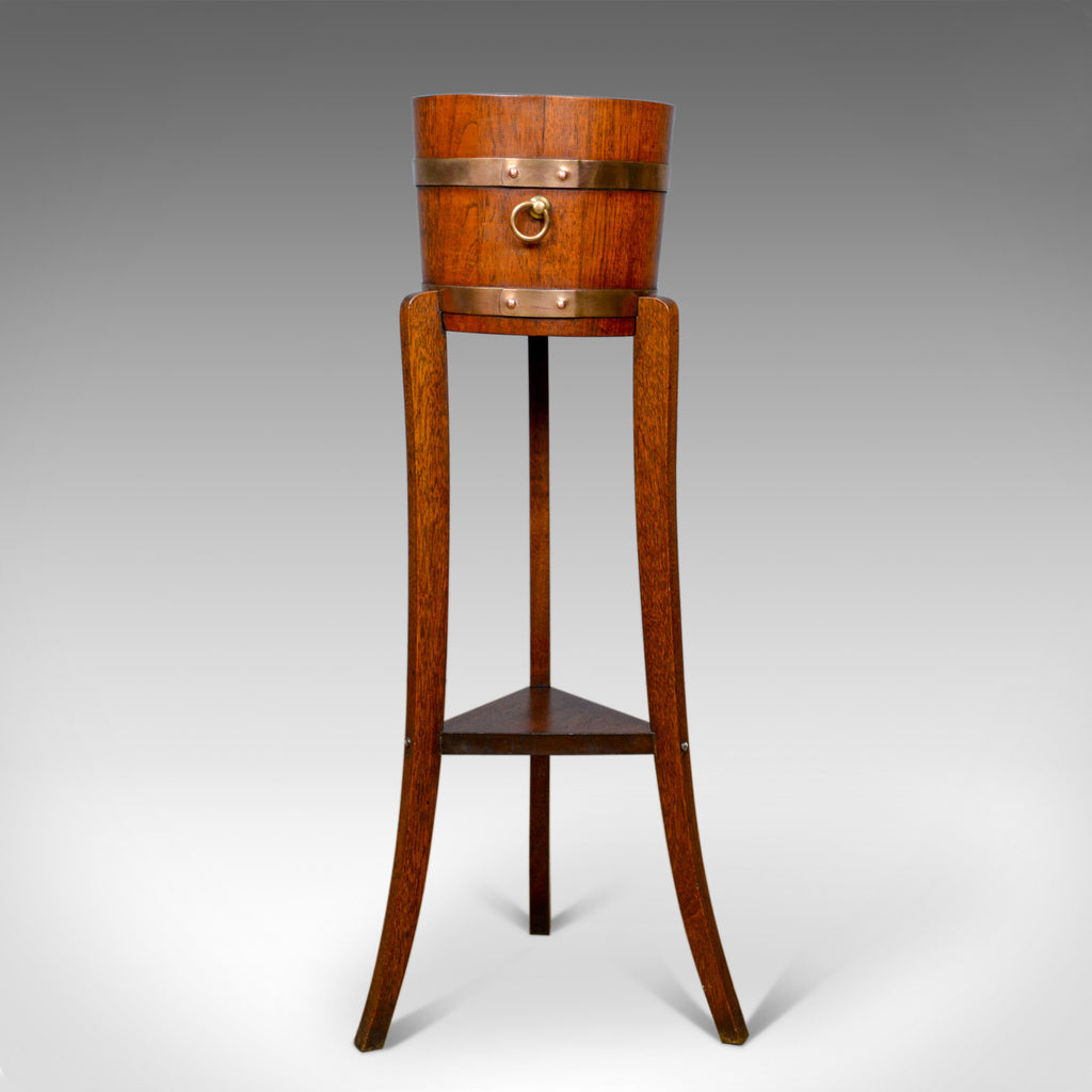 Antique Jardiniere, Arts and Crafts, Coopered Barrel on Stand, Lister, c.1900 - London Fine Antiques