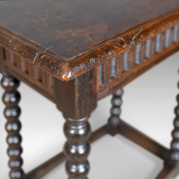Antique Joint Stool, English, Late Georgian, Oak, Seat, Circa 1800 - London Fine Antiques