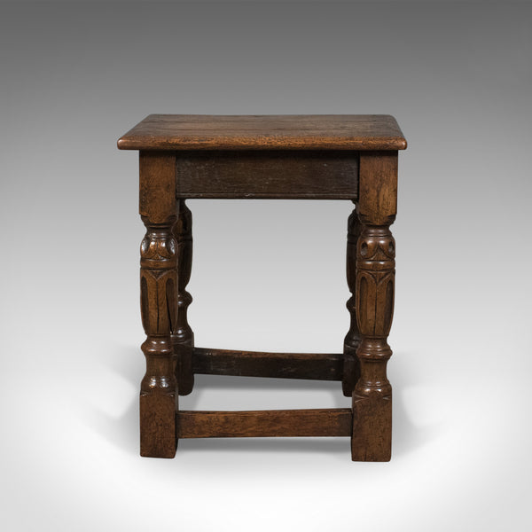 Antique Joint Stool, English Oak, Late Georgian Circa 1800 - London Fine Antiques
