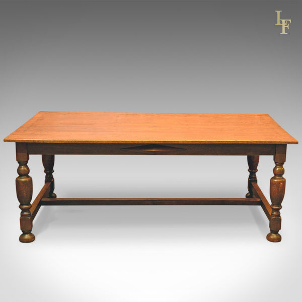 Large Antique Kitchen Table, Victorian Dining Oak c.1900 - London Fine Antiques