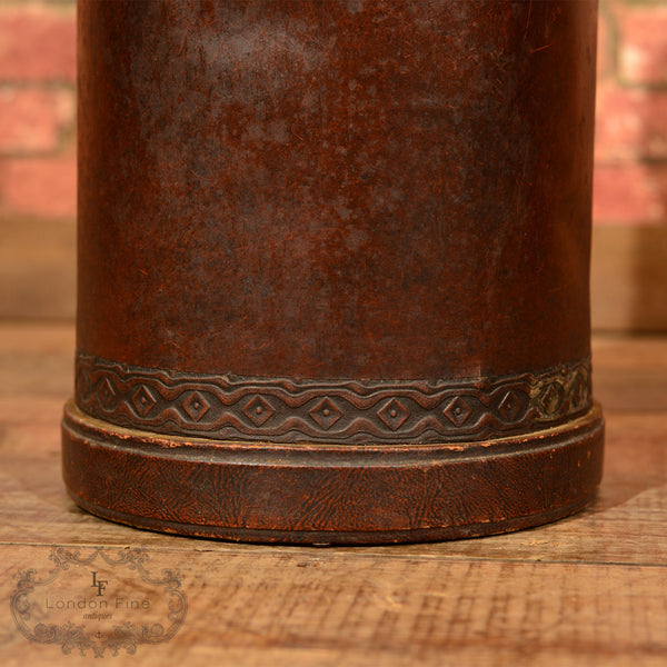 Edwardian Leather Stick Stand, c.1910 - London Fine Antiques